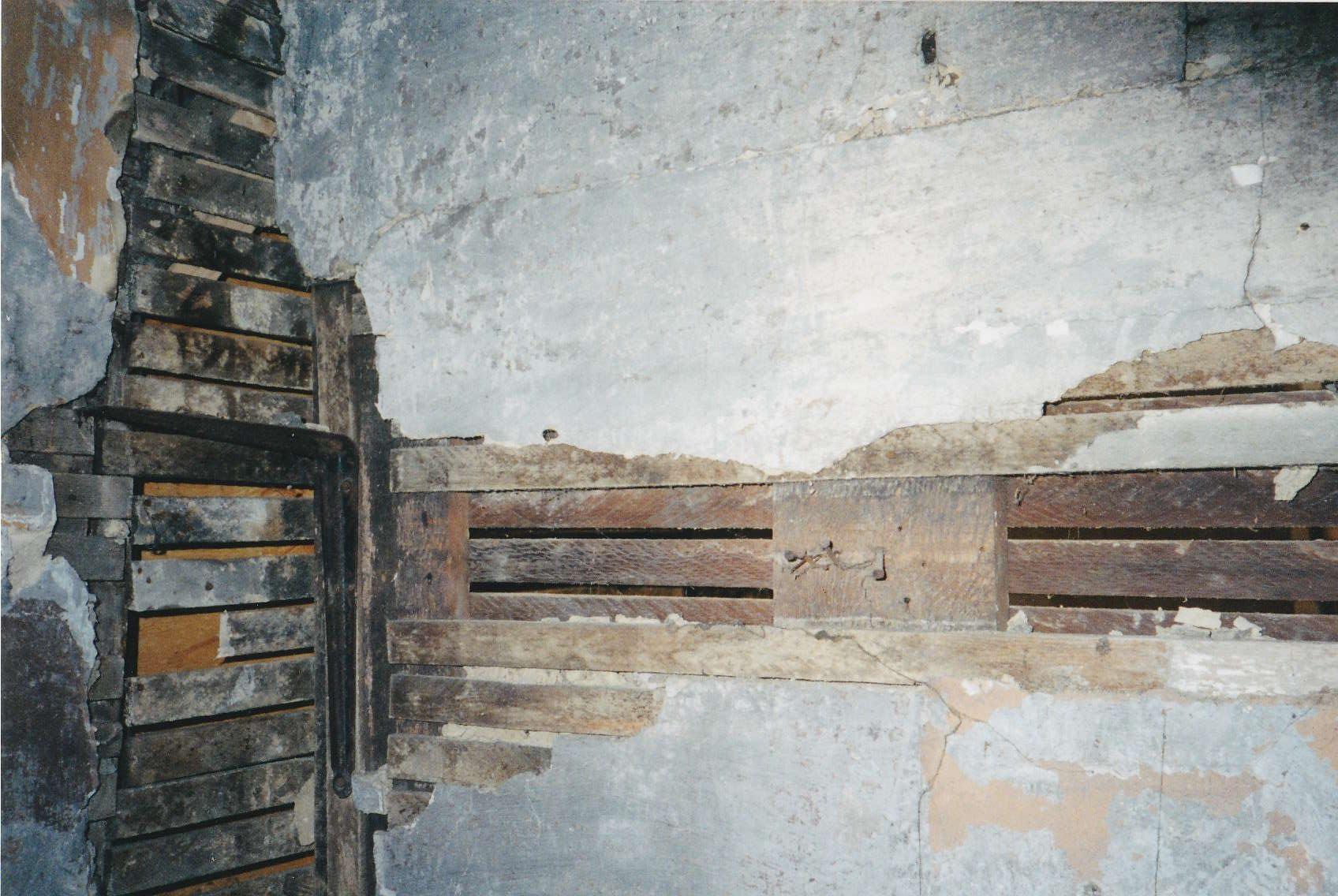 Interior plaster wall